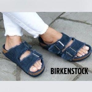 Birkenstock ARIZONA Shearling Fur Sandal Flat Slip